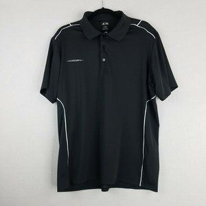 Adidas Golf Polo Shirt Size Mens Large Black White